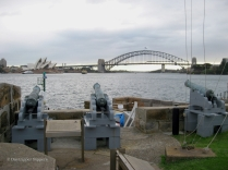Cannons on Fort Denison, island in Sydney Harbour, Sydney, Australia