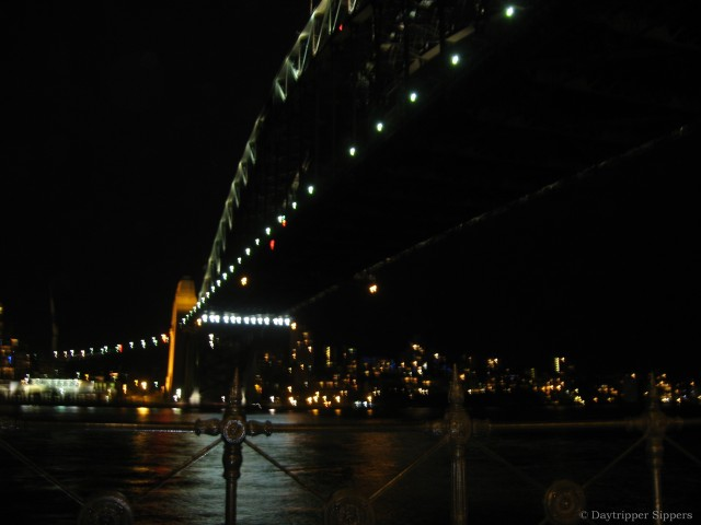 View under Sydney Harbour Bridge from Dawes Point at night, 21 Nov 2008